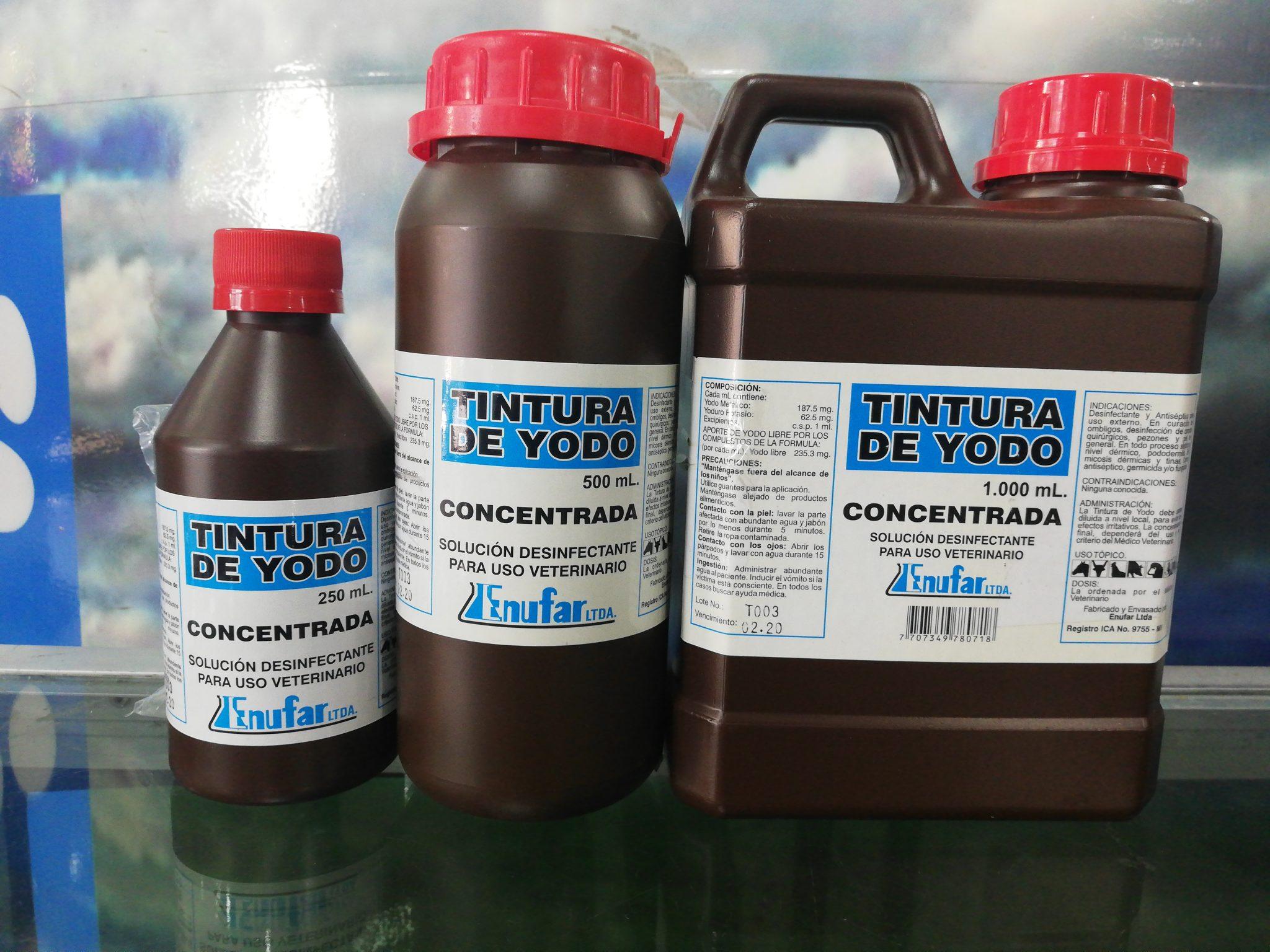 TINTURA DE YODO CONC. X 250 ML
