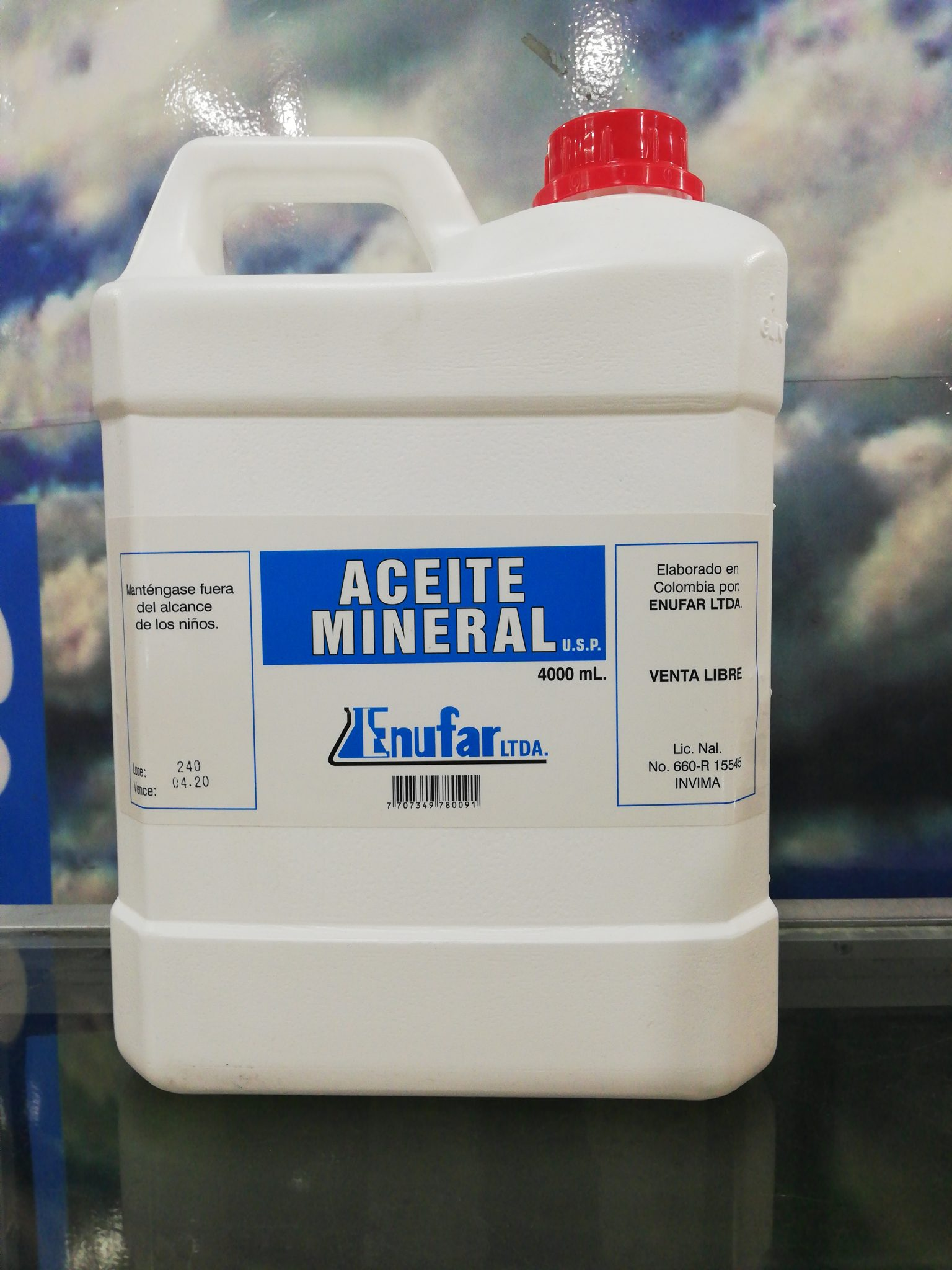 ACEITE MINERAL X 500 ML.