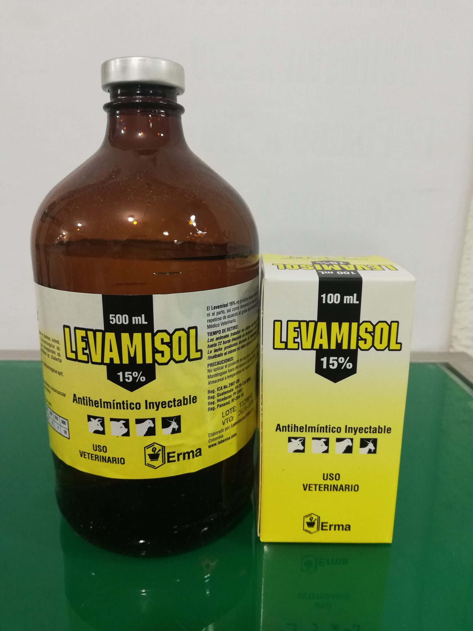 LEVAMISOL 15% FCO 100 ML ERMA