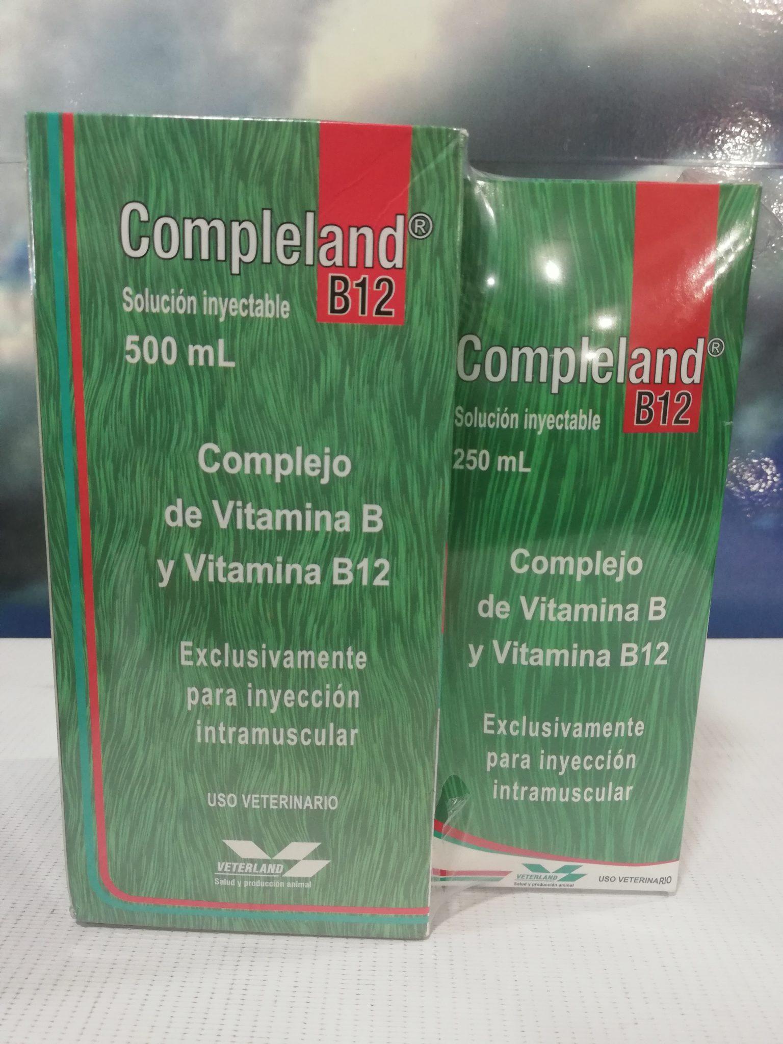 COMPLELAND B12 INY X 250 ML VETERLAND