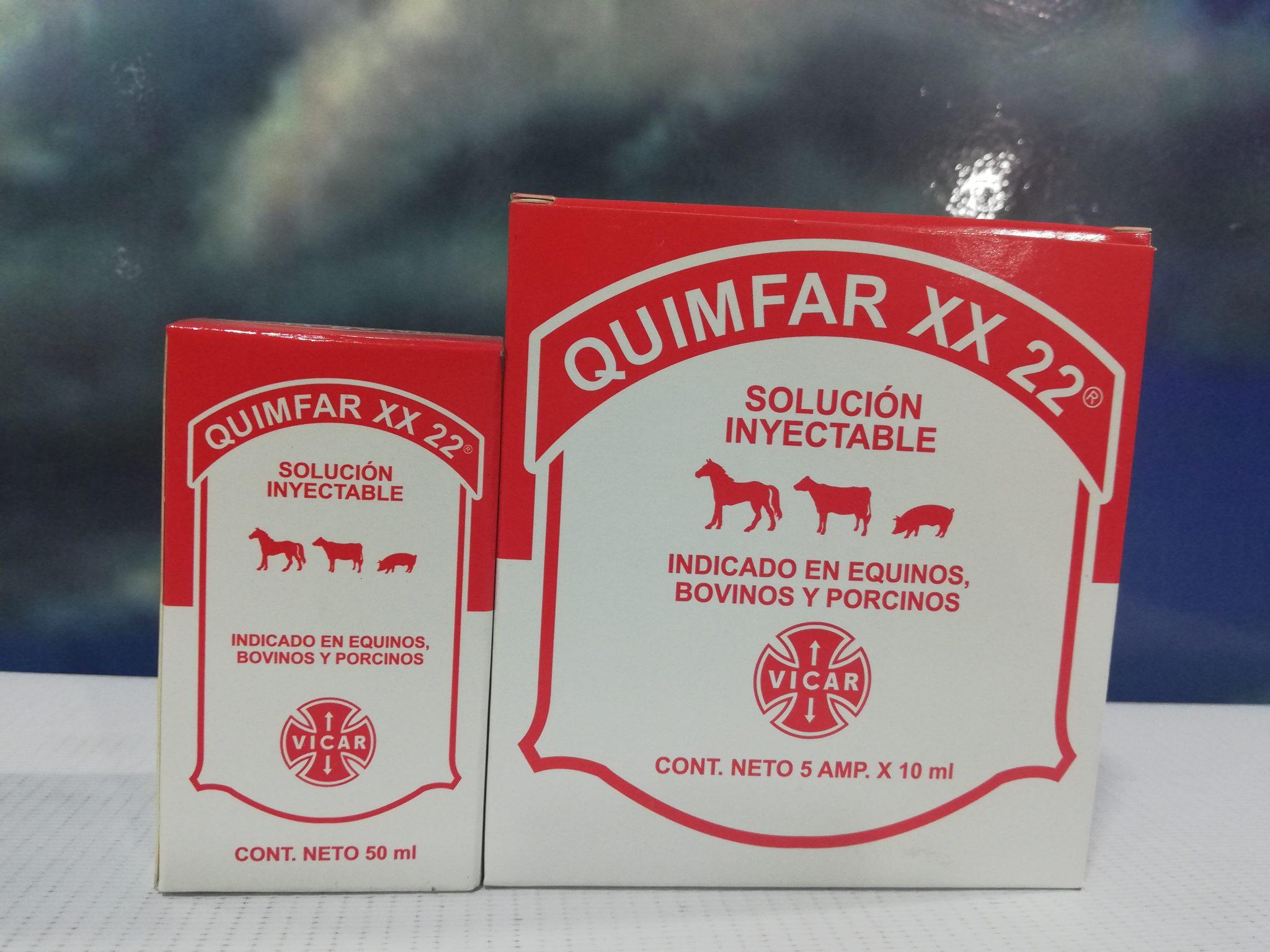 QUIMFAR XX-22 X 10 ML CAJA X 5 AM