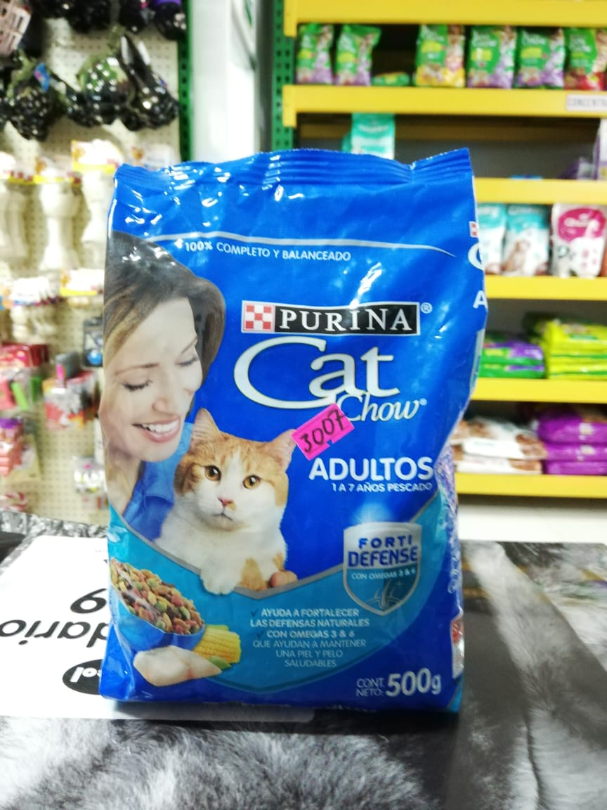 CAT CHOW ADULTOS CARNE X 500 GR
