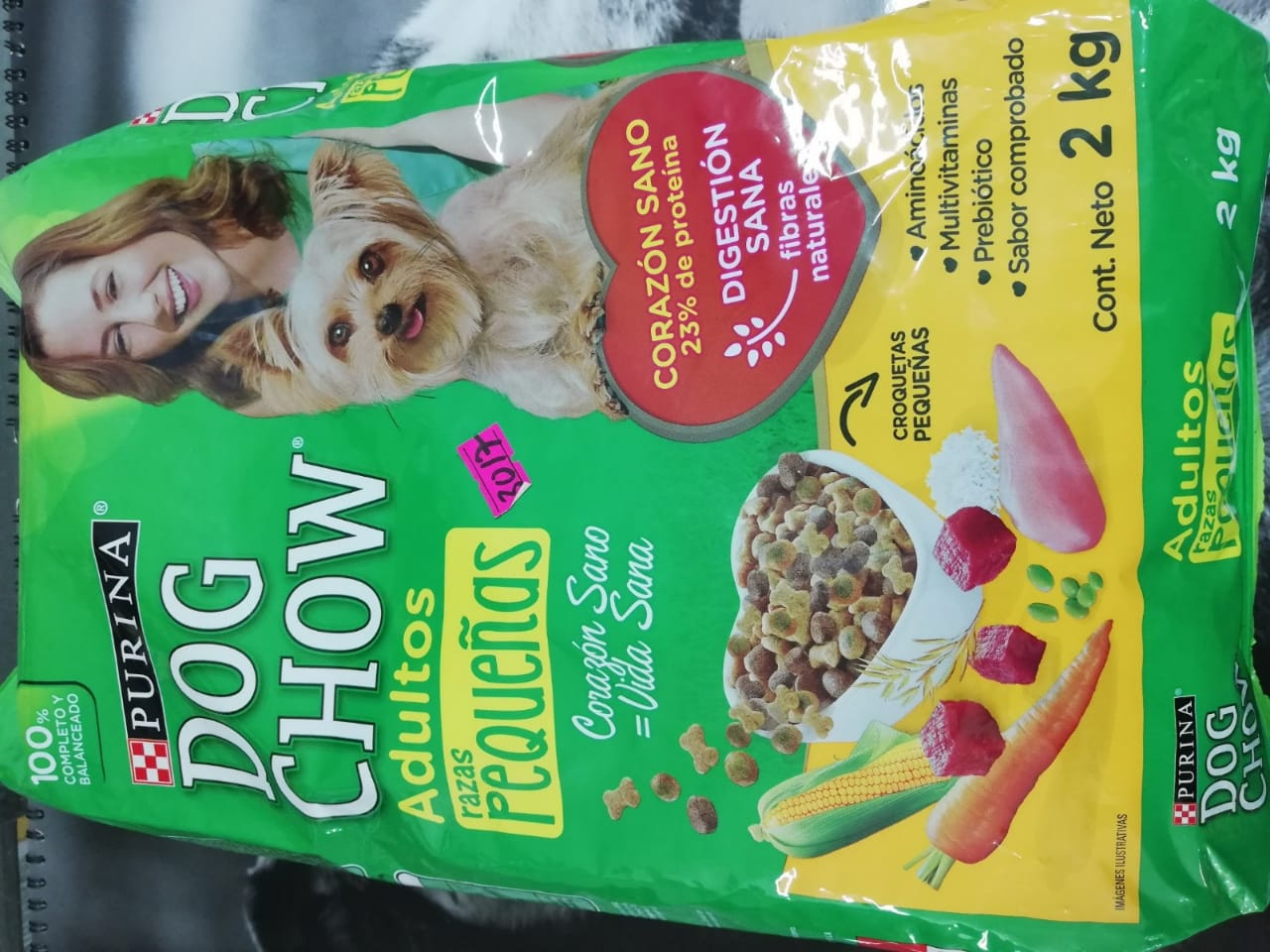 DOG CHOW ADUL R. PEQ. X 2 KG